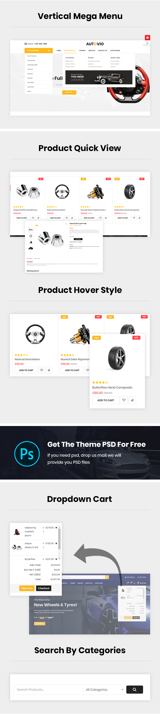 Car Parts And Accessories WooCommerce Theme